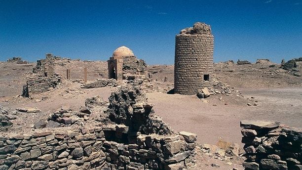 YEMEN - APRIL 08: Ruins of the city of Baraqish, 6th century BC, Al Jawf governorate, Yemen. (Photo by DeAgostini/Getty Images)