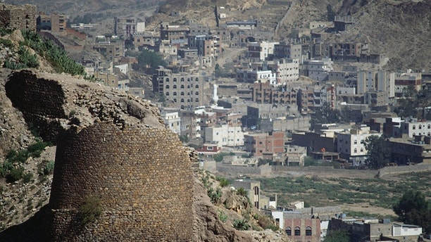 YEMEN - MARCH 23: The city of Ta'izz view from the Qal'at al-Qahira citadel, Yemen. (Photo by DeAgostini/Getty Images)