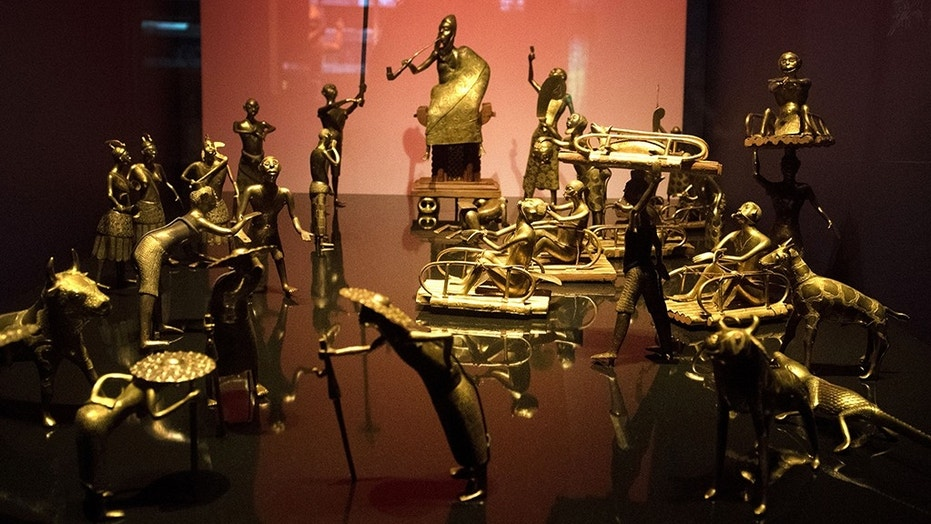 The Ato ceremony of the Kingdom of Dahomey is pictured at the Quai Branly Museum-Jacques Chirac in Paris.