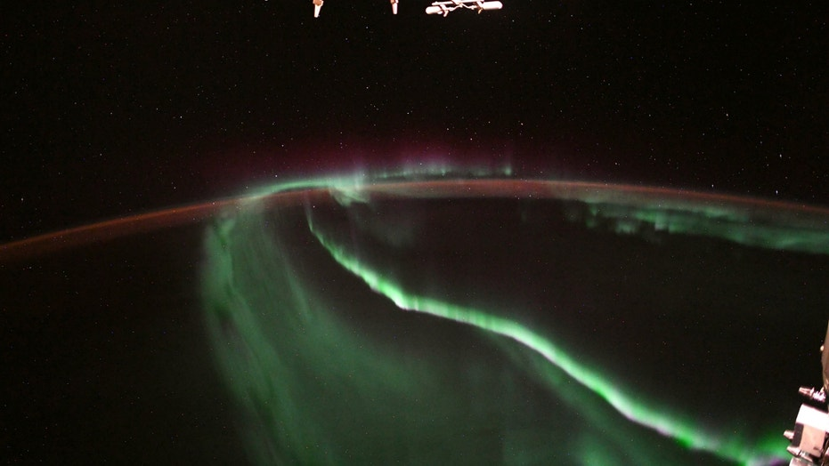 The aurora as seen from the International Space Station by astronaut Alexander Gerst.