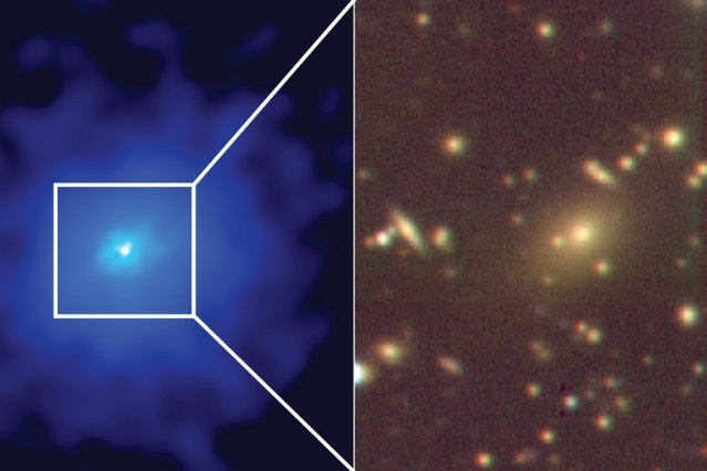 Monster black hole 'feeding frenzy' hides hundreds of galaxies in new photo
