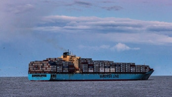 VIRGINIA BEACH, VIRGINIA, UNITED STATES - 2016/02/09: Maersk container ship departs from Chesapeake Bay on delivery. (Photo by John Greim/LightRocket via Getty Images)