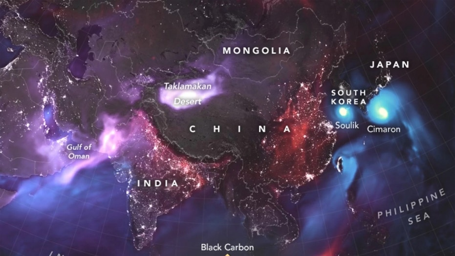 NASA has shown an incredible map dust clouds surrounding the Earth