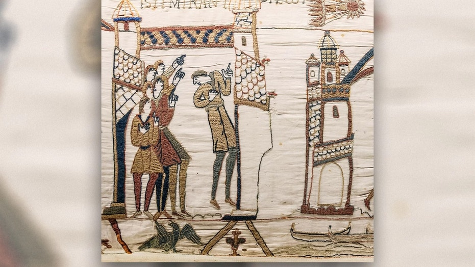 The Bayeux Tapestry features a depiction of the 1066 Halley's Comet. Credit: Myrabella/CC by 1.0
