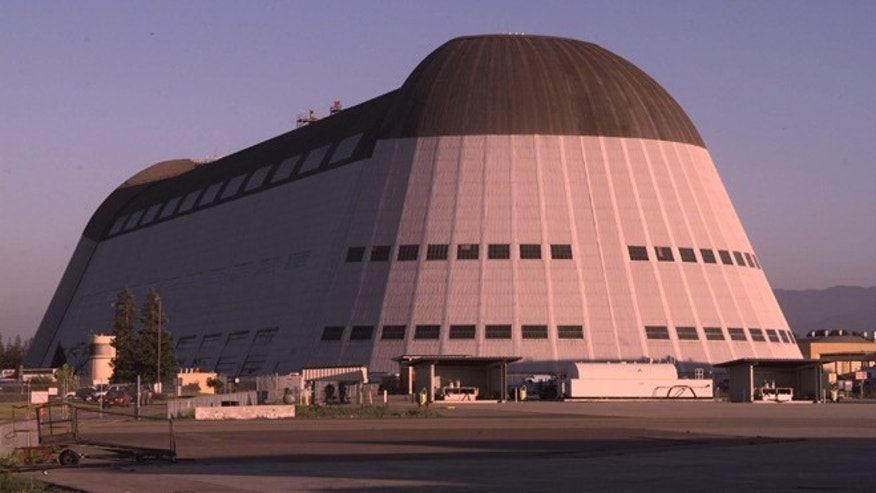A 1999 photo of the iconic Hangar One falicity at Moffett Field, Calif. Built in 1932 by the Navy for the USS Macon, it served as the West Coast base for the U.S. lighter-than-air aviation program.