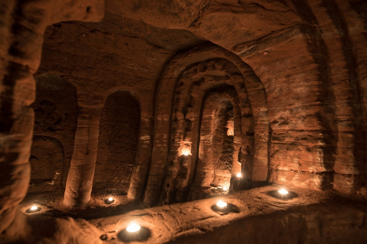 Image result for Rabbit hole leads to incredible 700-year-old Knights Templar cave