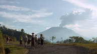INDONESIA - APRIL 01:  Mount Agung's volcano continues to smoke after a devastating eruption, Mount Agung, Bali, Lesser Sunda Islands, Indonesia  (Photo by Robert F. Sisson/National Geographic/Getty Images)