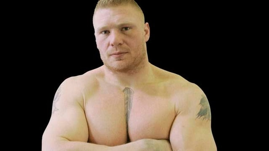 Brock Lesnar poses after a training session Jan. 17, 2008 in Brooklyn Center, Minn., for his upcoming Ultimate Fighting Championship debut scheduled for Feb. 2 in Las Vegas. Lesnar, 30, is a former NCAA wrestling champion at the University of Minnesota, performed for the World Wrestling Entertainment and had a tryout with the Minnesota Vikings football team.  (AP Photo/Jim Mone)
