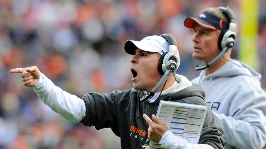 Nov. 14: Denver Broncos head coach Josh McDaniels reacts to a call during the second quarter of an NFL football game against the Kansas City Chiefs in Denver.