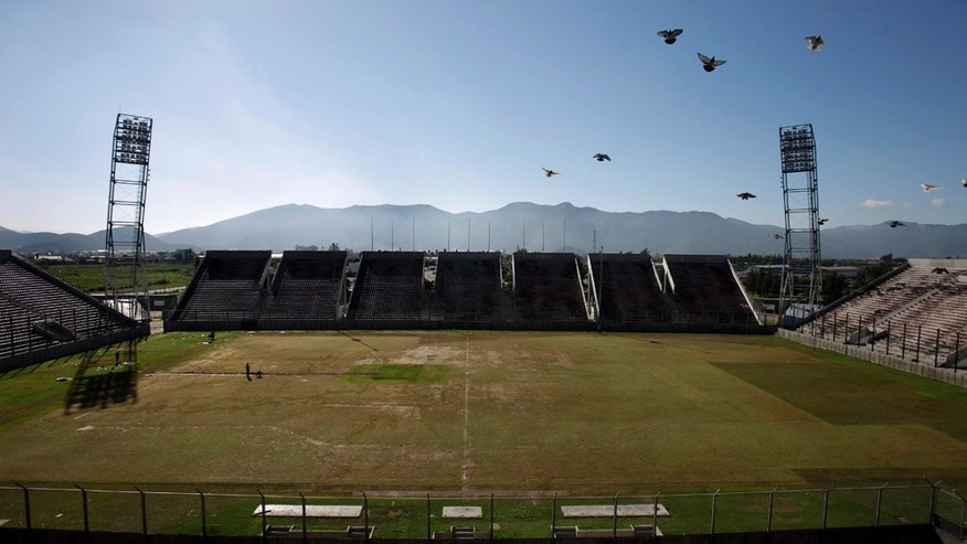The Padre Ernesto Martearena Stadium is seen during its preparation for the Copa America 2011 soccer tournament in Salta, Argentina, Tuesday, March 29, 2011. The tournament will take place in Argentina between July 1 and July  24 and will count with the presence of 12 national soccer teams. (AP Photo/Eduardo Di Baia)