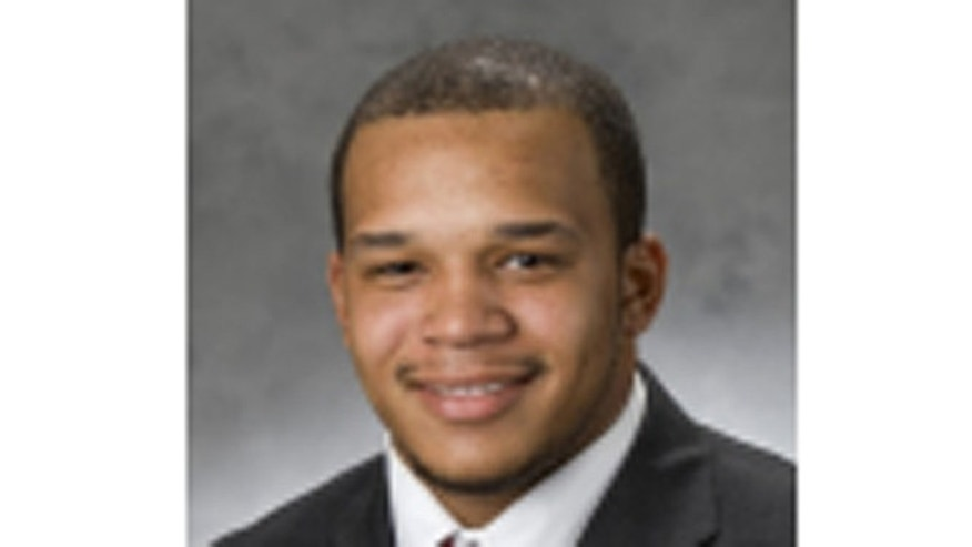 Undated photo of Northern Illinois University football player Devon Butler.