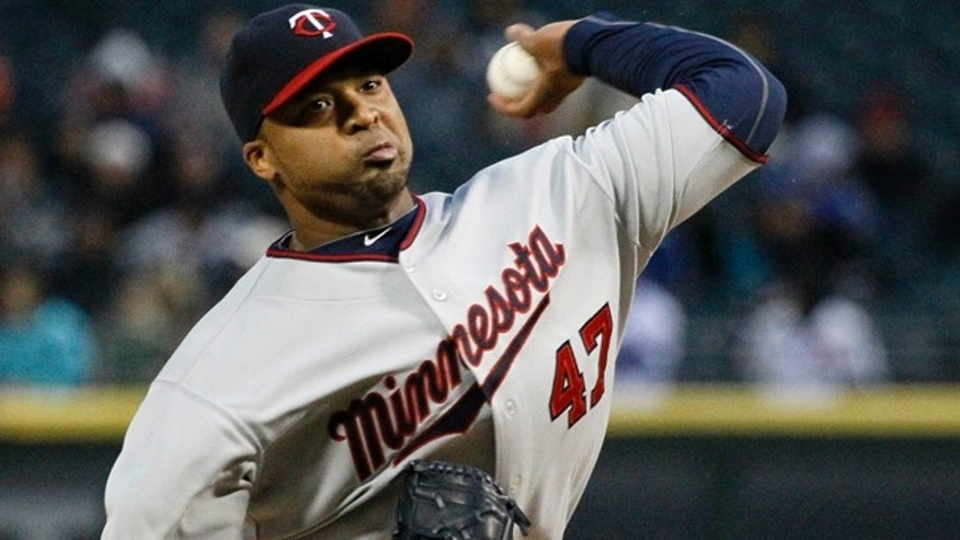 May 3: Minnesota Twins starting pitcher Francisco Liriano delivers during the first inning of a baseball game against the Chicago White Sox in Chicago.