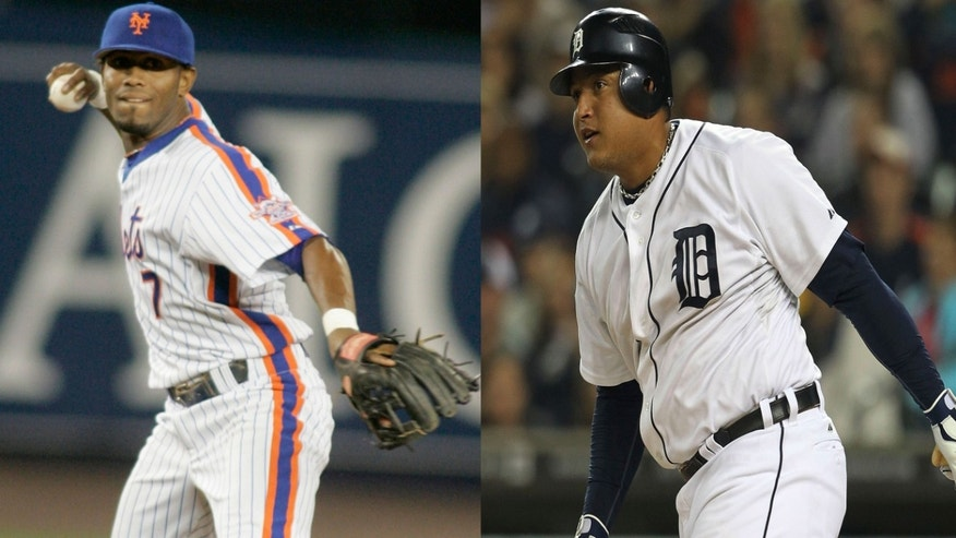 José Reyes and Miguel Cabrera.