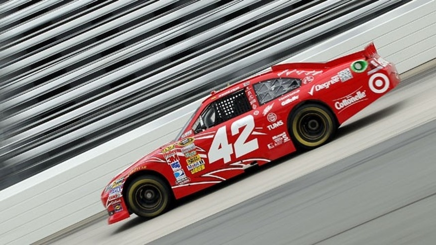 MARTINSVILLE, VA - OCTOBER 29:  Juan Pablo Montoya drives the #42 Target Chevrolet during practice for the NASCAR Sprint Cup Series TUMS Fast Relief 500 at Martinsville Speedway on October 29, 2011 in Martinsville, Virginia.  (Photo by Streeter Lecka/Getty Images)