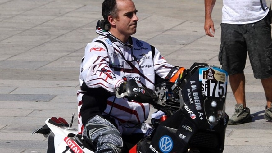 Dec. 31, 2011: Argentina's Jorge Martinez Boero is seen during the Argentina-Chile-Peru Dakar Rally 2012 symbolic start in Mar del Plata, Argentina.