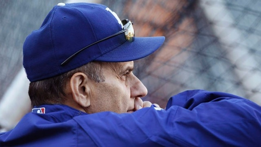 September 14: Los Angeles Dodgers manager Joe Torre watches batting practice before the Dodgers' baseball game against the San Francisco Giants in San Francisco. (AP)