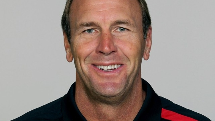 FILE - This undated, file photo shows Atlanta Falcons NFL football offensive coordinator Mike Mularkey.