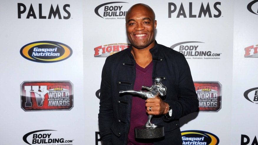 Mixed martial artist Anderson Silva at the Fighters Only World Mixed Martial Arts Awards 2011 at The Pearl concert theater at the Palms Casino Resort November 30, 2011 in Las Vegas, Nevada.