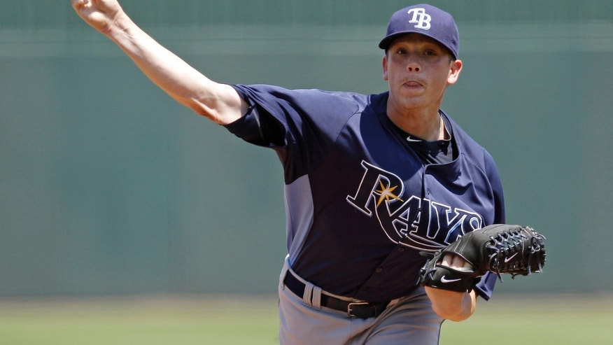 April 3: Tampa Bay Rays starter Jeremy Hellickson delivers to the Minnesota Twins during the first inning of a spring training baseball game in Fort Myers, Fla.