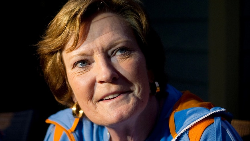 March 12, 2012: In this photo, Pat Summitt, speaks to a reporter at her home in Knoxville, Tenn.
