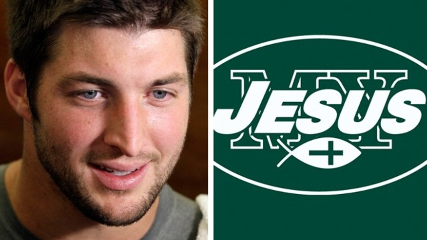 May 16, 2012: Tebow is reportedly taking legal action over tee.
