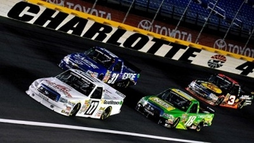 Trucks back to business at charlotte fox news for Camping at charlotte motor speedway