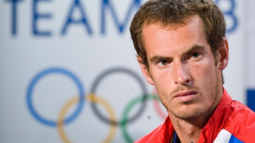 June 21, 2012: Britain's Andy Murray attends a press conference after being selected for the Olympic team at The All England Lawn Tennis and Croquet Club, Wimbledon London.