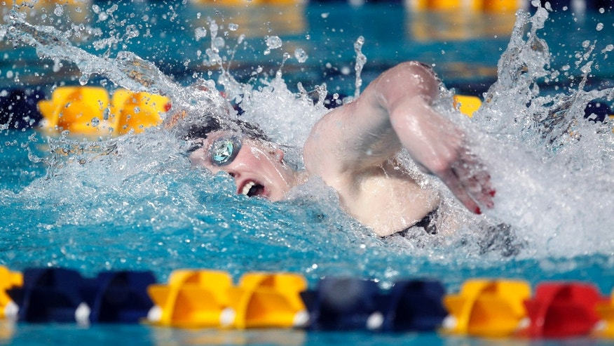 Dec. 17, 2011: In this file photo, U.S. swimmer Missy Franklin competes at the Duel in the Pool swimming meet in Atlanta.