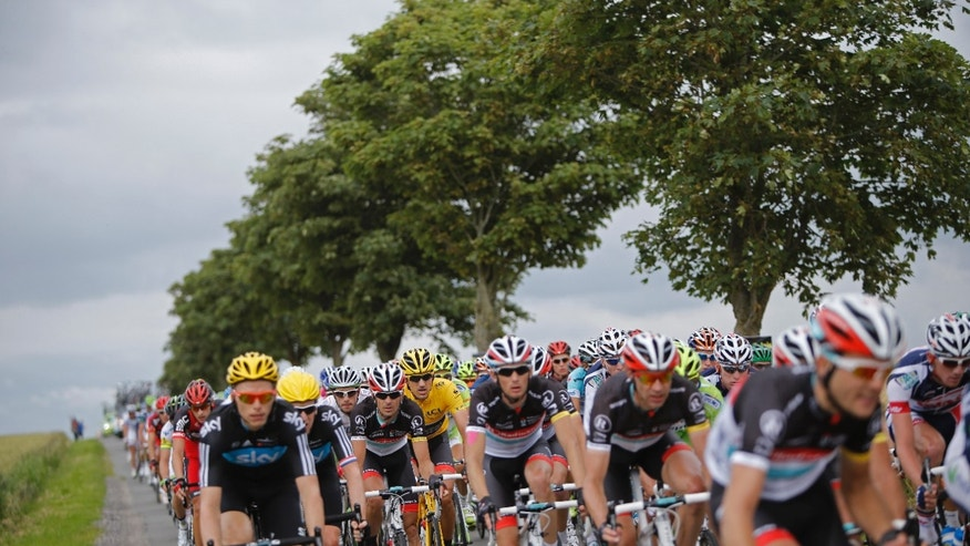 July 3, 2012: Fabian The pack during the third stage of the Tour de France cycling race.