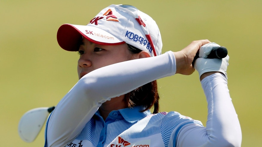 July 8, 2012: Na Yeon Choi, of South Korea, watches her tee shot on the 13th hole during the final round of the U.S. Women&#39&#x3b;s Open golf tournament in Kohler, Wis.