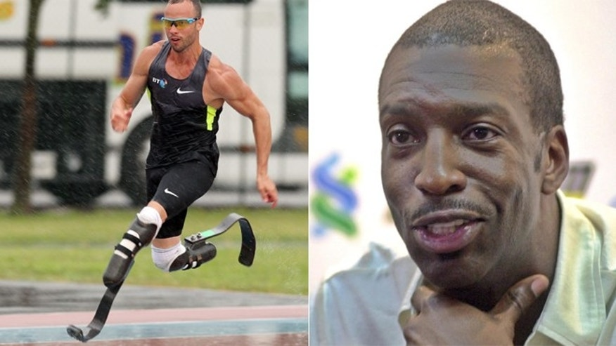 Gold-medalist Michael Johnson says South African Oscar Pistorius should not be allowed to run against able-bodied runners.
