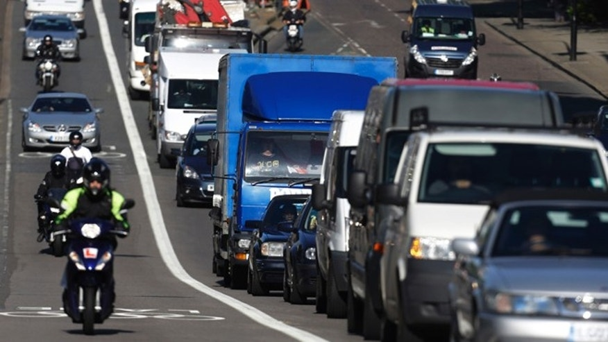 July 30, 2012: Motorists head into central London during the morning rush hour on the first week-day of full competition of the 2012 Summer Olympics.