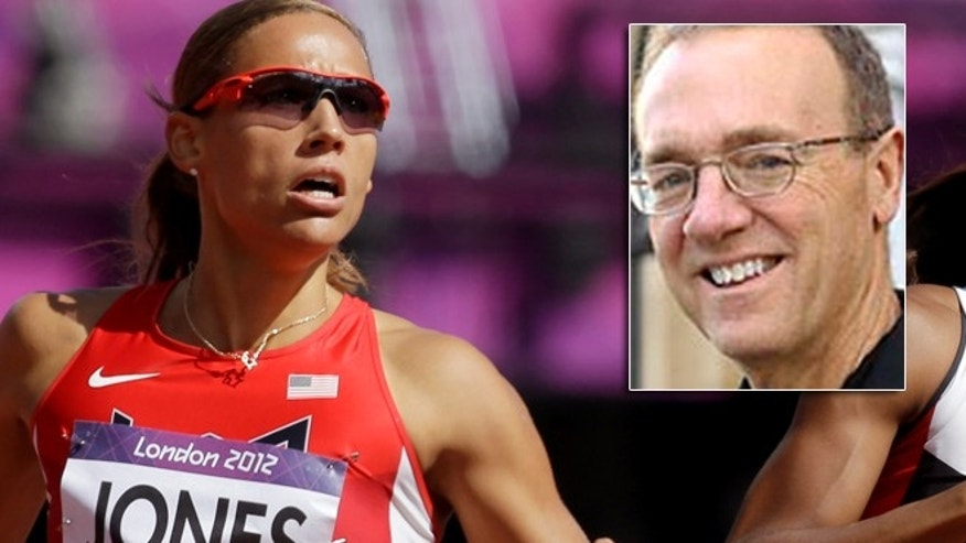 The New York Times' Jere Longman is under fire for criticizing American sprinter Lolo Jones, seen competing Aug. 6, 2012, in a women's 100-meter hurdles heat at the London Olympics.