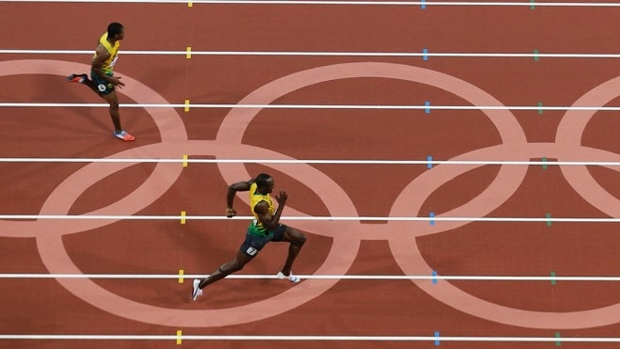 Aug. 9, 2012: Jamaica's Usain Bolt wins the finals of the men's 200-meter in the Olympic Stadium at the 2012 Summer Olympics, London.