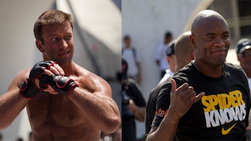 Stephan Bonnar pictured on the left, Anderson Silva pictured on the right.