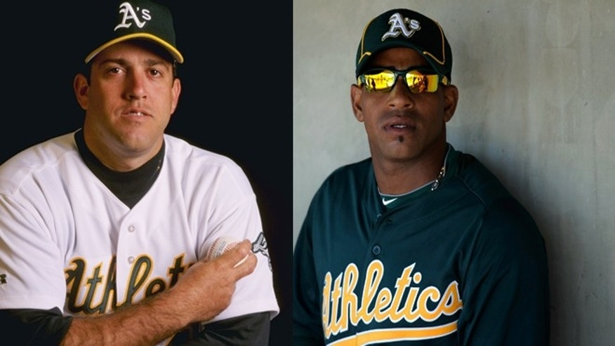 Ariel Pietro on the left and Yoenis Cespedes on the right.