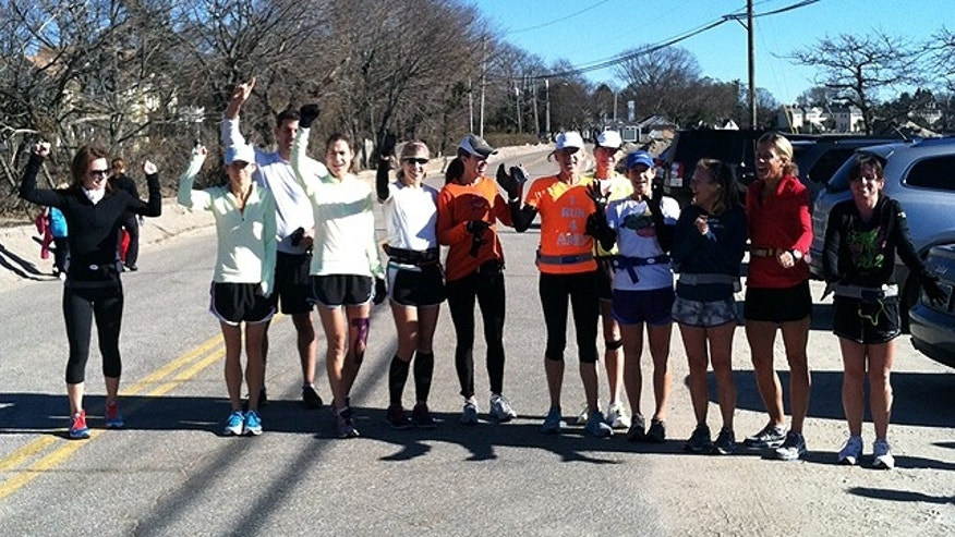 Runners from Fairfield and Southport, Conn., prepare to run 26.2 miles following the cancellation of the New York City Marathon in the aftermath of Hurricane Sandy. (Courtesy: Connecticut Challenge)