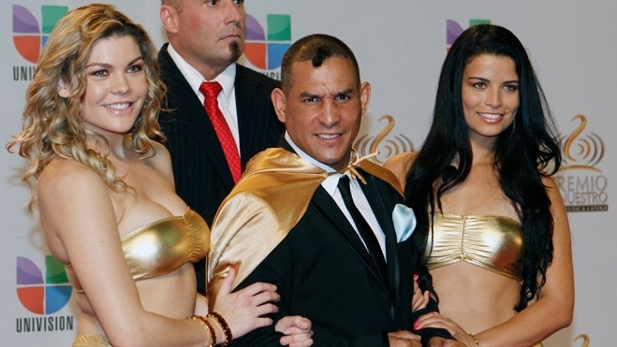 FILE 2012: Hector 'Macho' Camacho poses for photographers at his arrival to the Premio Lo Nuestro Music Awards in Miami.