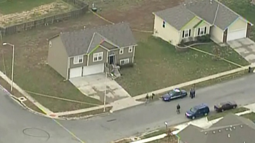 This screen grab of an aerial shot shows the scene of the first reported shooting involving a Kansas City Chiefs player and a female victim.