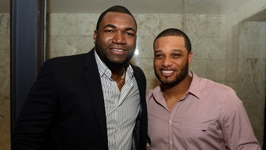 David Ortiz and Robinson Cano at the Golf Pairings Party