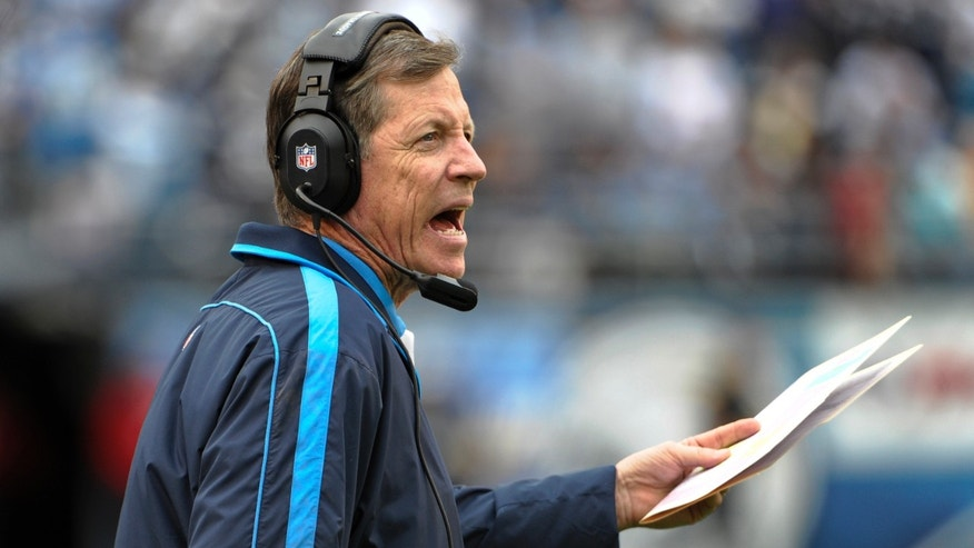 San Diego Chargers coach Norv Turner shouts instructions while his team falls quickly behind the Carolina Panthers  during the first half of a NFL football game Sunday, Dec. 16, 2012, in San Diego. The Chargers lost 31-7.   (AP Photo/Denis Poroy)