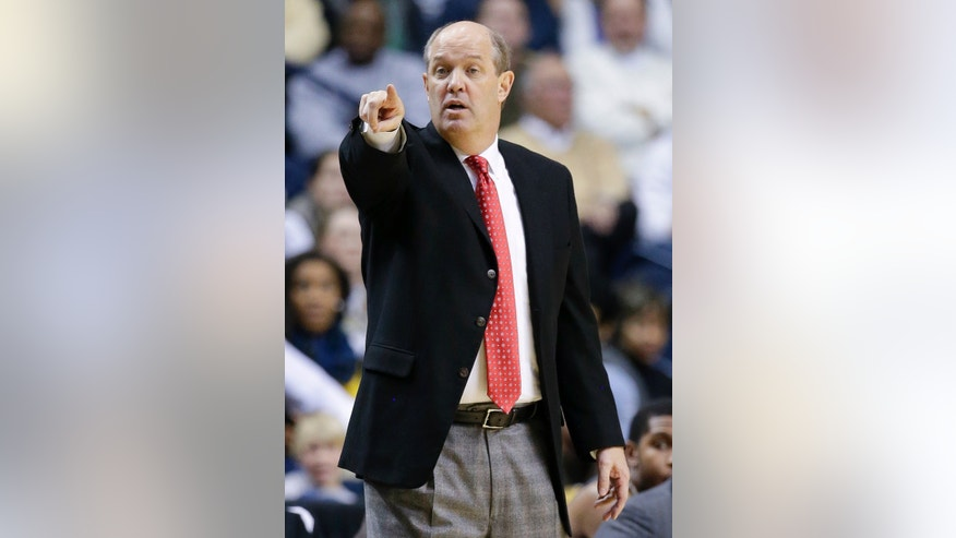 Vanderbilt head coach Kevin Stallings directs his players in the first half of an NCAA college basketball game against Middle Tennessee, Friday, Dec. 21, 2012, in Nashville, Tenn. (AP Photo/Mark Humphrey)