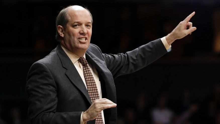 Vanderbilt head coach Kevin Stallings directs his players in the first half of an NCAA college basketball game against Butler, Saturday, Dec. 29, 2012, in Nashville, Tenn. (AP Photo/Mark Humphrey)
