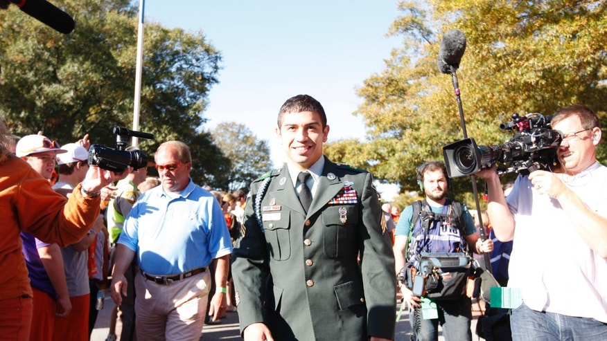 Clemson Tiger Daniel Rodriguez dressed in his Army uniform.