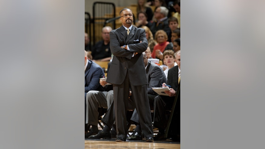 Missouri head coach Frank Haith watches his team play during the first half of an NCAA college basketball game against South Carolina Tuesday, Jan. 22, 2013, in Columbia, Mo. (AP Photo/L.G. Patterson)