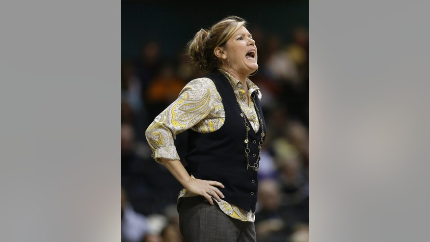 Vanderbilt head coach Melanie Balcomb yells to her players in the first half of an NCAA basketball game against Tennessee,Thursday, Jan. 24, 2013, in Nashville, Tenn. (AP Photo/Mark Humphrey)