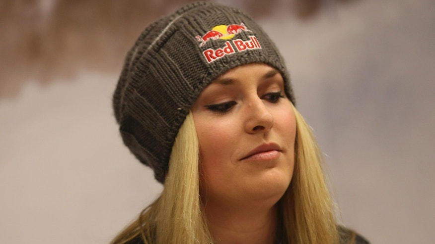 Feb. 3, 2013: U.S. ski racer Lindsey Vonn attends a press conference in Schladming, Austria.