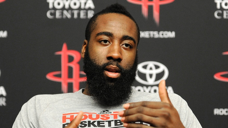 Houston Rockets' James Harden talks about his favorite Houston restaurants Monday, Feb. 4, 2013, in Houston. The 23-year-old will make his NBA All-Star debut when the game and its weekend of festivities comes to Houston Feb. 15-17. (AP Photo/Pat Sullivan)In this photo taken Monday, Feb. 4, 2013, Houston Rockets basketball player James Harden talks about his favorite Houston restaurants during an interview in Houston. The 23-year-old will make his NBA All-Star debut when the game and its weekend of festivities comes to Houston Feb. 15-17. (AP Photo/Pat Sullivan)