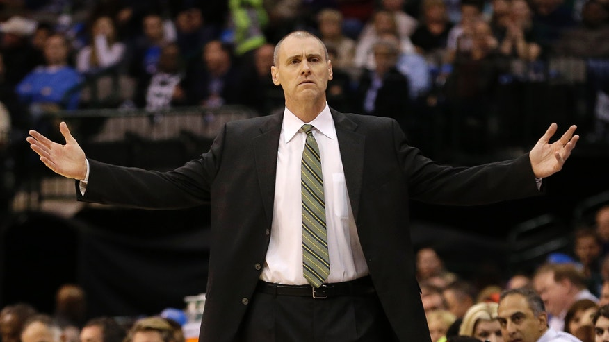 Dallas Mavericks head coach Rick Carlisle looks for the call during the first half of an NBA basketball game against the Golden State Warriors Saturday, Feb. 9, 2013, in Dallas. The Mavericks won 116-91. (AP Photo/LM Otero)