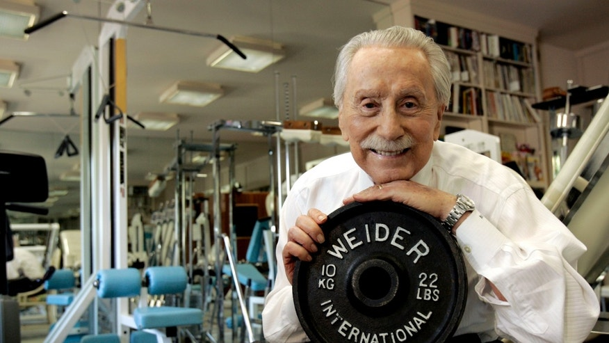 Nov. 15, 2006: Legendary publisher, promoter and weightlifter Joe Weider, who created the Mr. Olympia contest and who brought California Governor Arnold Schwarzenegger to the U.S., poses for a portrait at his home in Los Angeles.